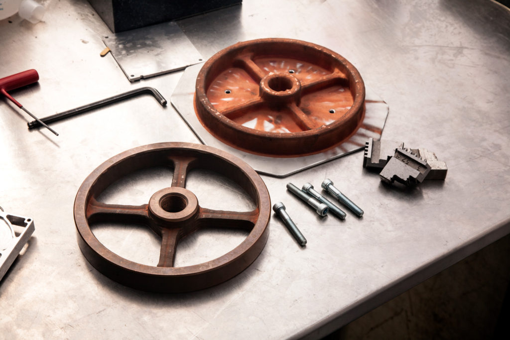 The world's first commercial LightSPEE3D metal printer located at Charles Darwin University in NT, has produced a copper flywheel that took 11 minutes and 38 seconds to produce at a cost of $4.60