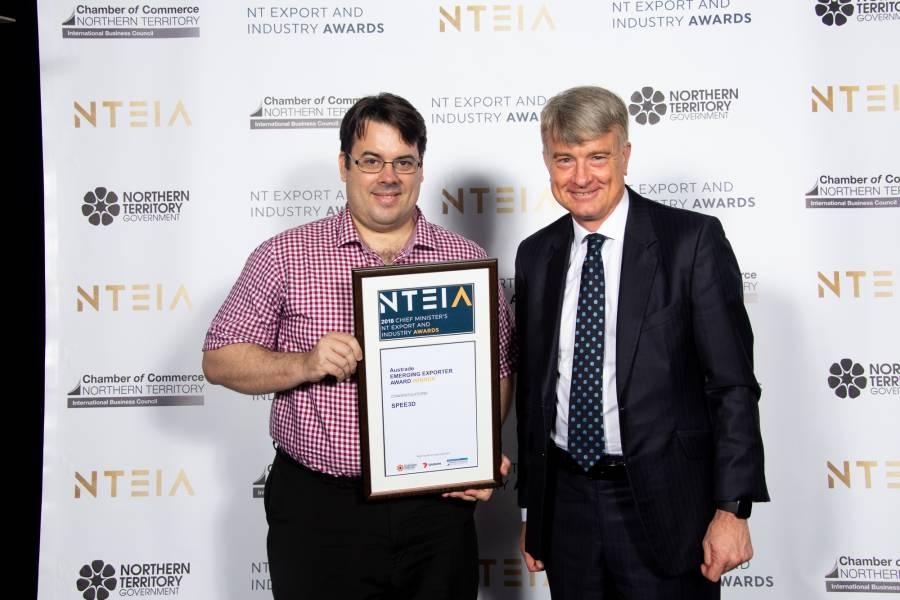 SPEE3D WINNER OF THE NT EMERGING EXPORT AWARD