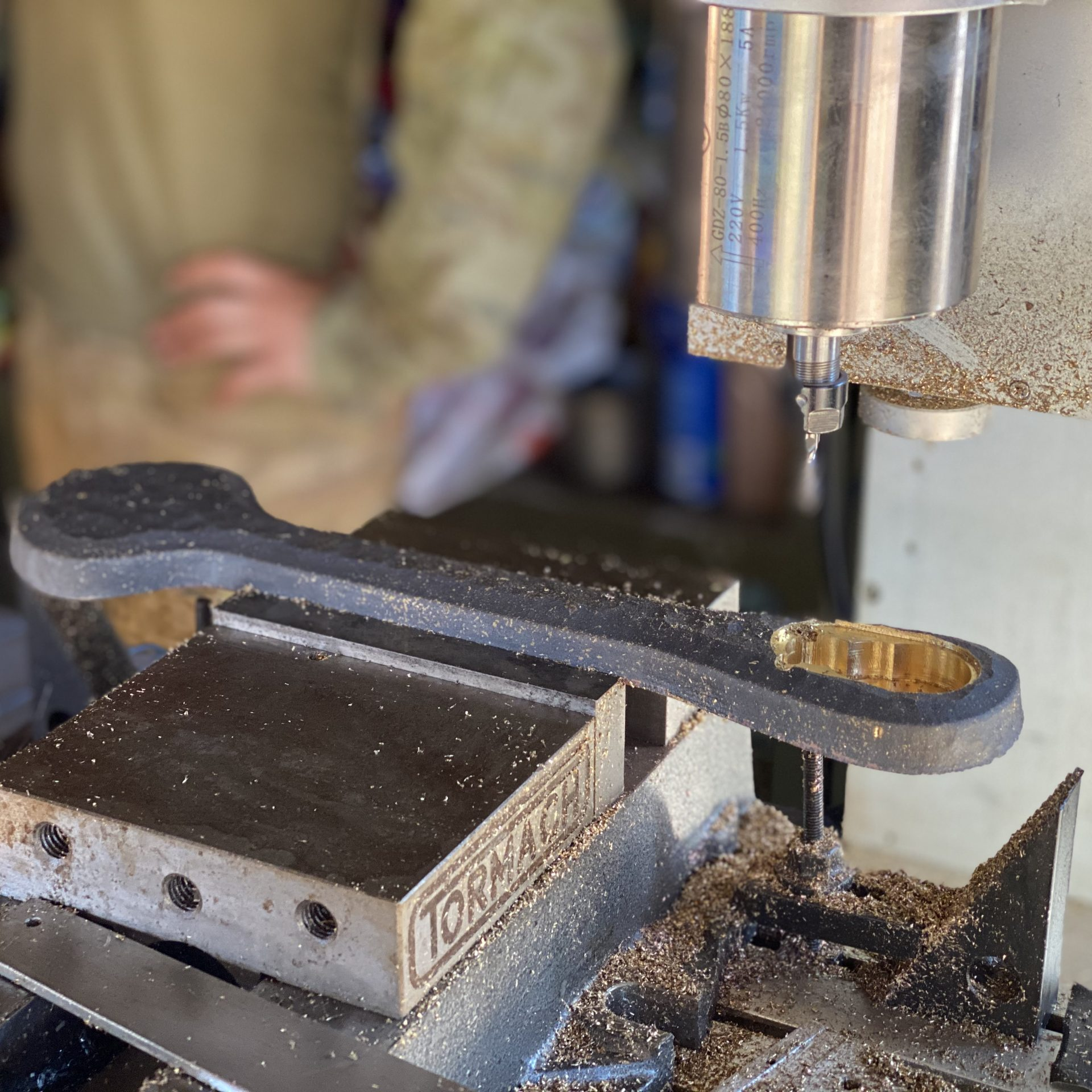 Finishing 3D printed Gunner's ratchet used by Defence in the service of the M242 Australian Light Armoured Vehicle Machine Gun